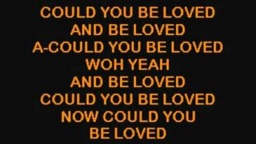 could you be loved bob marley th