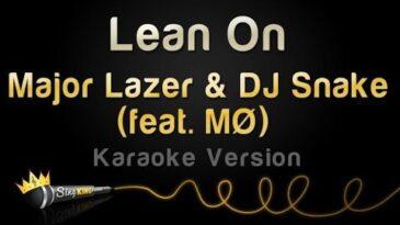 lean on major lazer y dj snake c