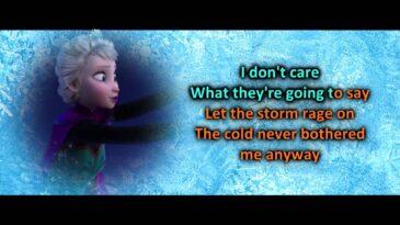 let it go frozen idina menzel