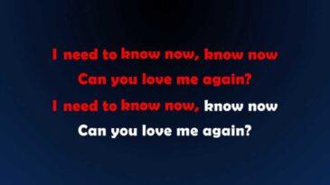 love me again john newman