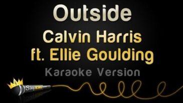 outside calvin harris con ellie