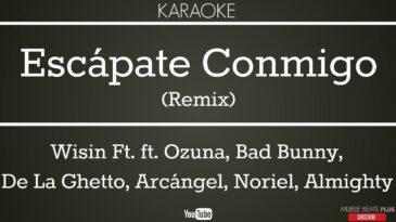 escapate conmigo remix wisin ft