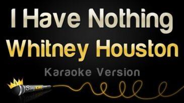 i have nothing whitney houston