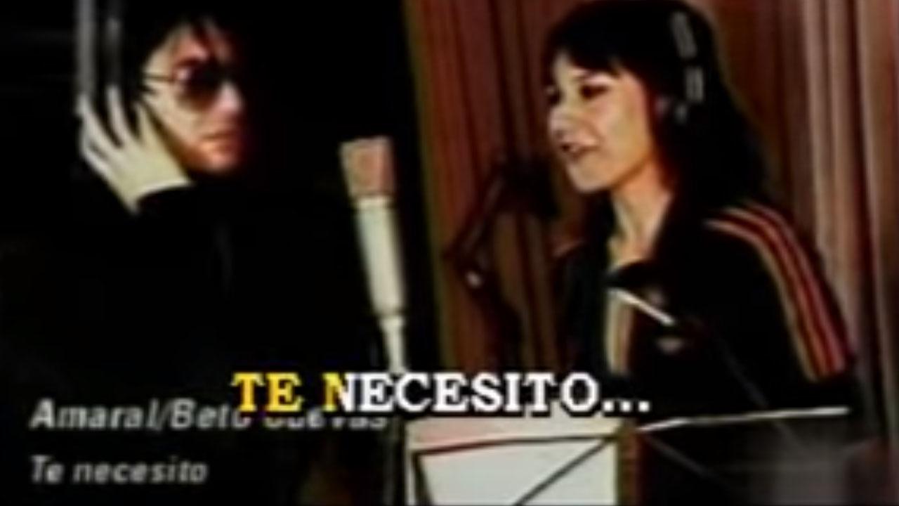 Karaoke Te Necesito Amaral Y Beto Cuevas