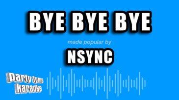 bye bye bye nsync