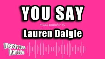 you say lauren daigle