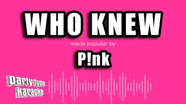 who knew pink