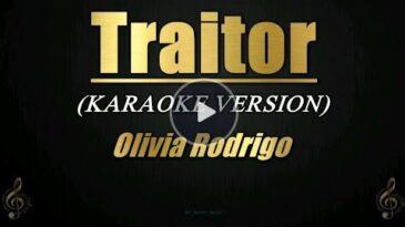 traitor olivia rodrigo
