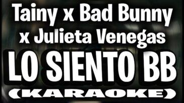 lo siento bb tainy bad bunny jul